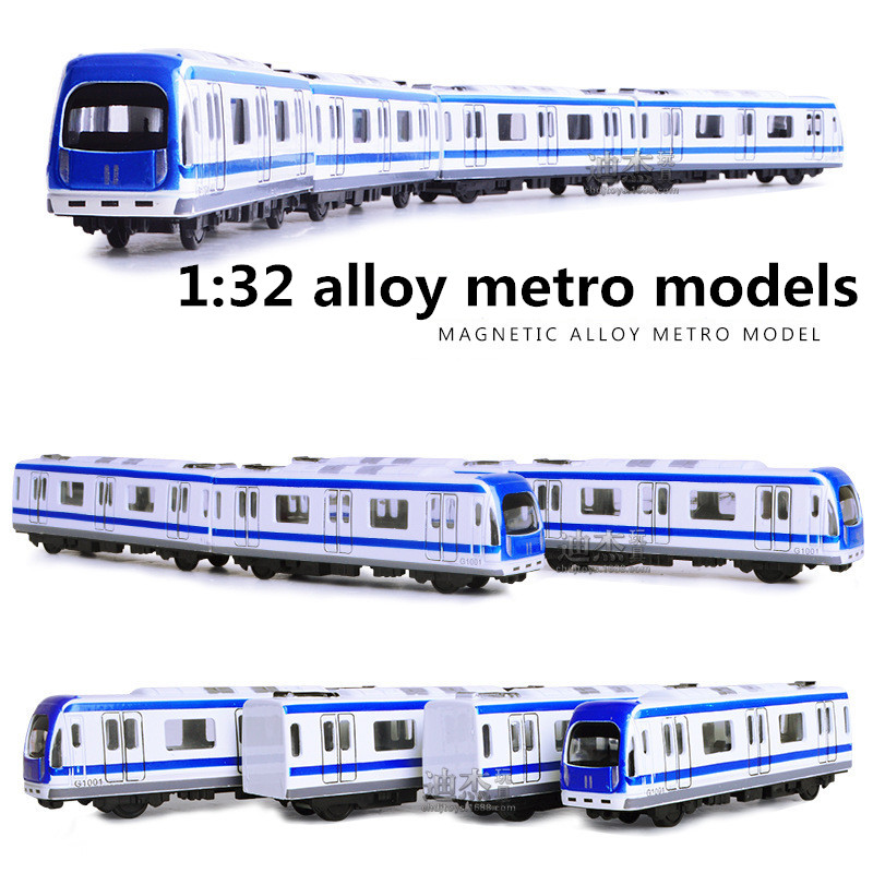 1:32 Alloy Metro Models,high Simulation Magnetic Vehicle Model, Metal Diecasts,pull Back,children's Toy Vehicles,free Shipping