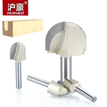 "HUHAO 1pcs 1/4"" 1/2"" Shank Round Nose Router Bit cove box Woodworking Cutter Tungsten Carbide Router Bits for wood endmill(China)"