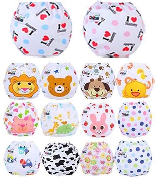 1pc Baby Adjustable Diapers/Children Cloth Diaper/Reusable Nappies/Training Pants/Diaper Cover/14 Style/Washable/Free Size #52