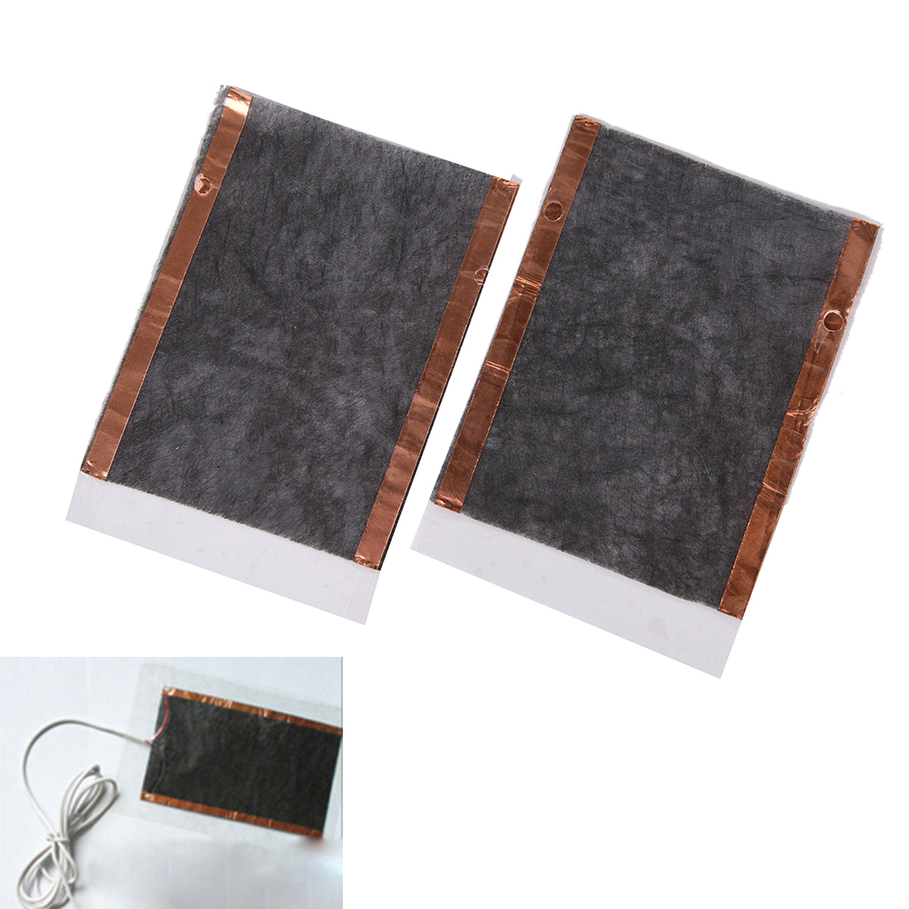 2pcs Portable DIY USB Heating Heater Winter Warmer Plate For Mouse Pad Shoes Gloves