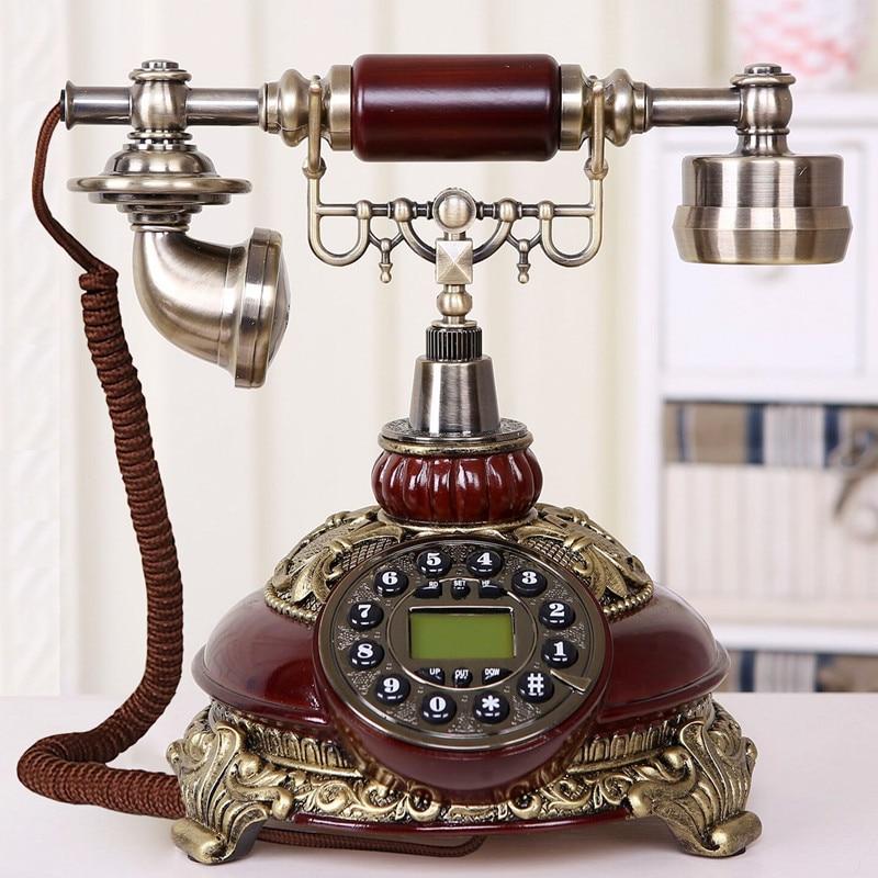 Ye are the top European Garden antique landline retro Home Office telephone Decoration home art rustic phone