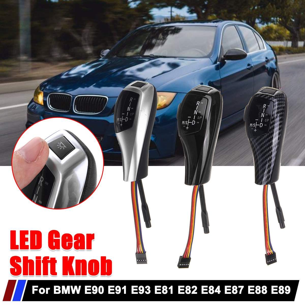 Levier de LED de pommeau de changement de vitesse manette de vitesse automatique LHD pour BMW E90 E91 E92 E93 E81 E87 E87 LCI E82 E88