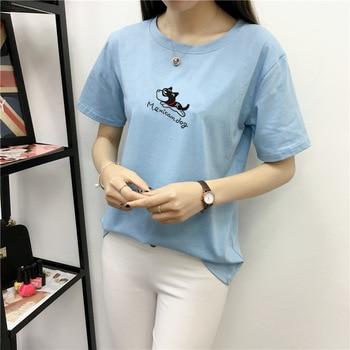 Funny Puppy Print t-shirt Women Kawaii Cute Tee Top Summer Beach Casual T Shirts Lovely Girl Harajuku tshirts Female Streetwear