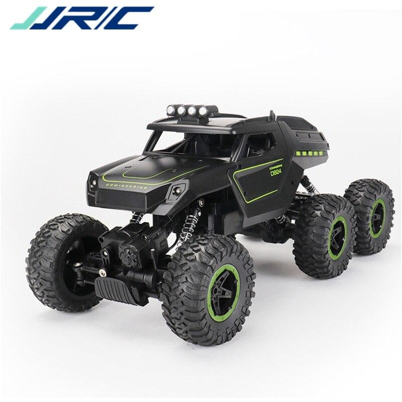 JJRC D824 1/12 2.4G 6WD Rc voiture couleur verte tout-terrain escalade camion chenille w/phare RTR jouets