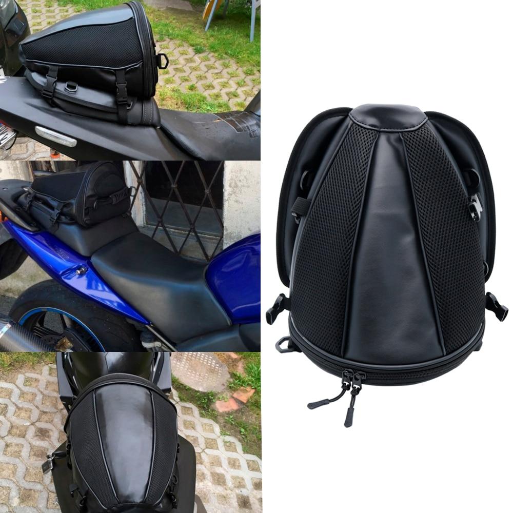 Motorcycle Tail Bag Motorbike Seat Back Bag Saddle Bag Rear Seat Package Waterproof Motor Motorbike Travel Saddle Tail Handbag motorcycle seat bag