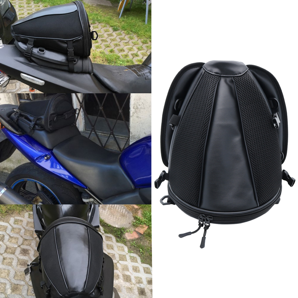 Motorcycle Rear Seat Back Package Tail Bag Saddle Waterproof Vehicle Luggage New