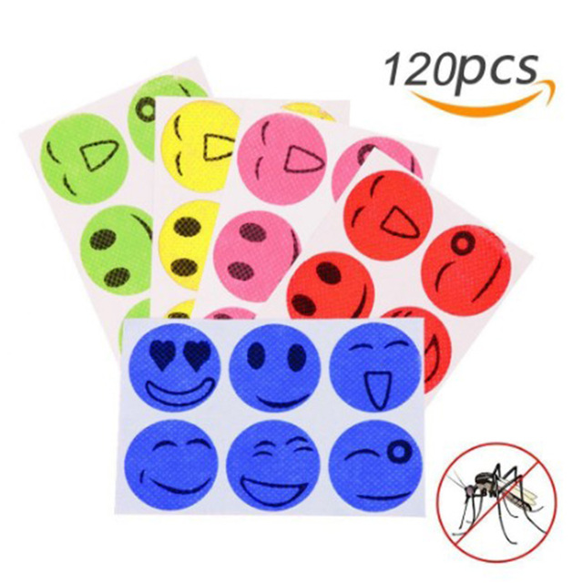 120pcs Mosquito Repellent Patches Stickers 100% Natural Non Toxic Pure Essential Oil Keeps Insects Far Away Camping Travel 2