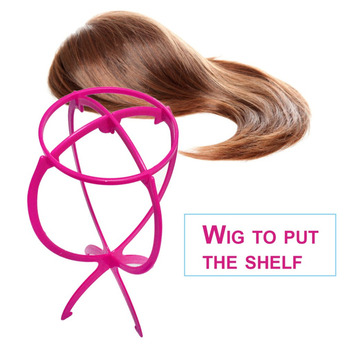 Durable Plastic Women Adjustable Wig Stand Foldable Wig Holder Racks for Styling Drying Display Practical Design