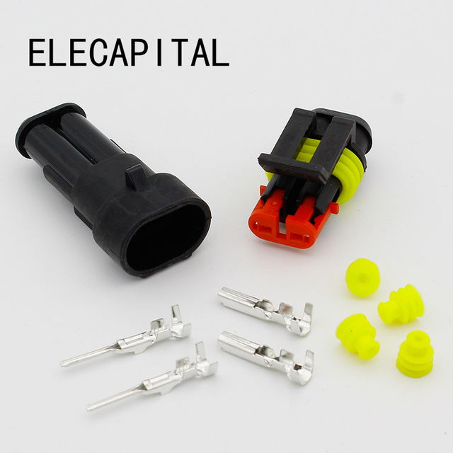 5kits flame retardancy 2p auto connector waterproof automotive wire rh aliexpress com automotive wiring connectors splices automotive wiring connectors plugs