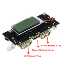 Dual USB 5V 1A 2 1A Mobile Power Bank 18650 Battery Charger PCB Power Module Accessories