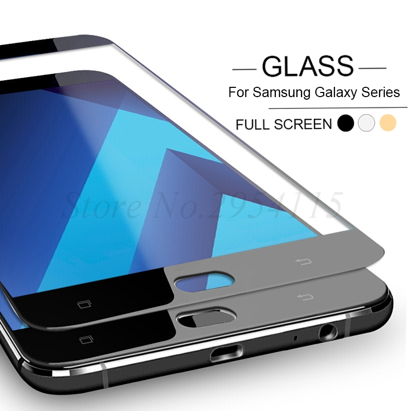 Protective Glass for Samsung Galaxy J6 J4 J2 Pro A6 A8 Plus 2018 A3 A5 A7 J3 J5 J7 2016 2017 S3 S4 S5 S6 S7 Note 4 5 Case Cover