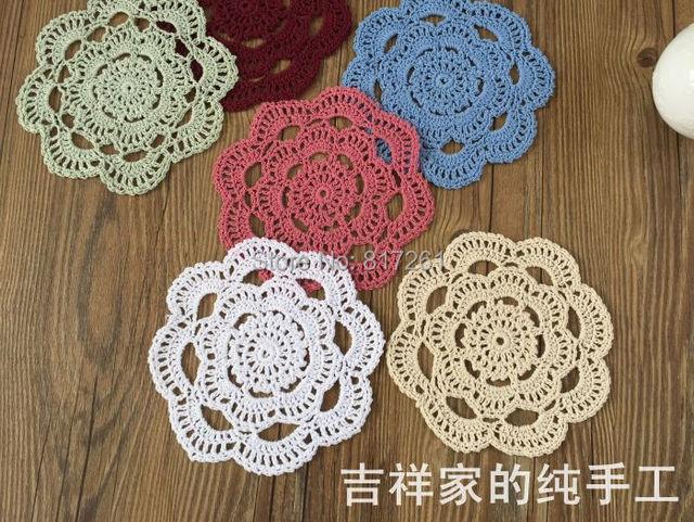Wholesale 30 Pic/lot Cotton Crochet Lace Doilies For Home Decor Fabric  Coaster Novelty Felt