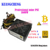 ETH Miners Power Supply With Cable 1600W 12V 125A Output Including 4d 6 2Pin 24Pin SATA