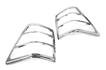 2pcs ABS Rear Tail Light Lamp Cover Chrome For Jeep Grand Cherokee 05-10
