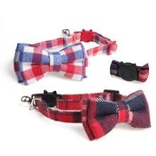 HELLOMOON 100% cotton plaid classical bells Original pet bow dog collar buckle para gato cat
