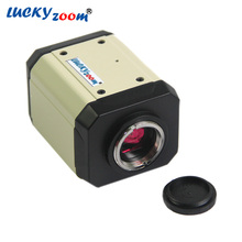 Cheaper Lucky Zoom Brand 2.0MP HD Digital Microscope Camera VGA USB AV Video Output for Industry PCB Lab Microscope Accessoires