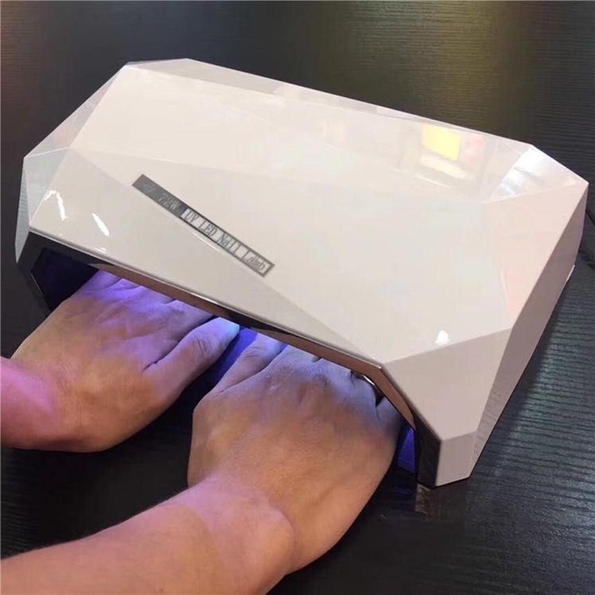 В форме ромба 72 Вт две стороны Сушилка для ногтей двойной свет светодиодный лампы для ногтей, УФ-лампы лечить все гель польский Инструмент с ...