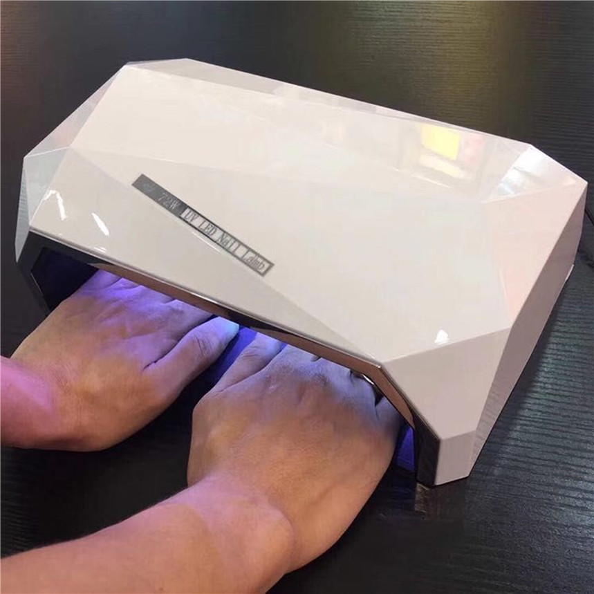 Diamond Shaped 72W Two Hand Nail Dryer Double light LED Nail Lamp UV Lamp Curing All Gel Polish Tool With Auto Sensor EU/US Plug-in Nail Dryers from Beauty & Health    1