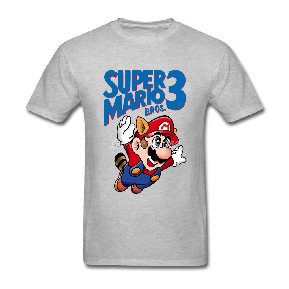 Super Mario T Shirt Short Sleeve Men T Shirt New Couple's Cotton Crewneck Big Size T Shirts