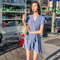 Длинное платье элегантный хлопок и пуговицы сексуальные платья Тонкий Летние платья Для женщин вечерние Повседневное пояса платья Для жен...