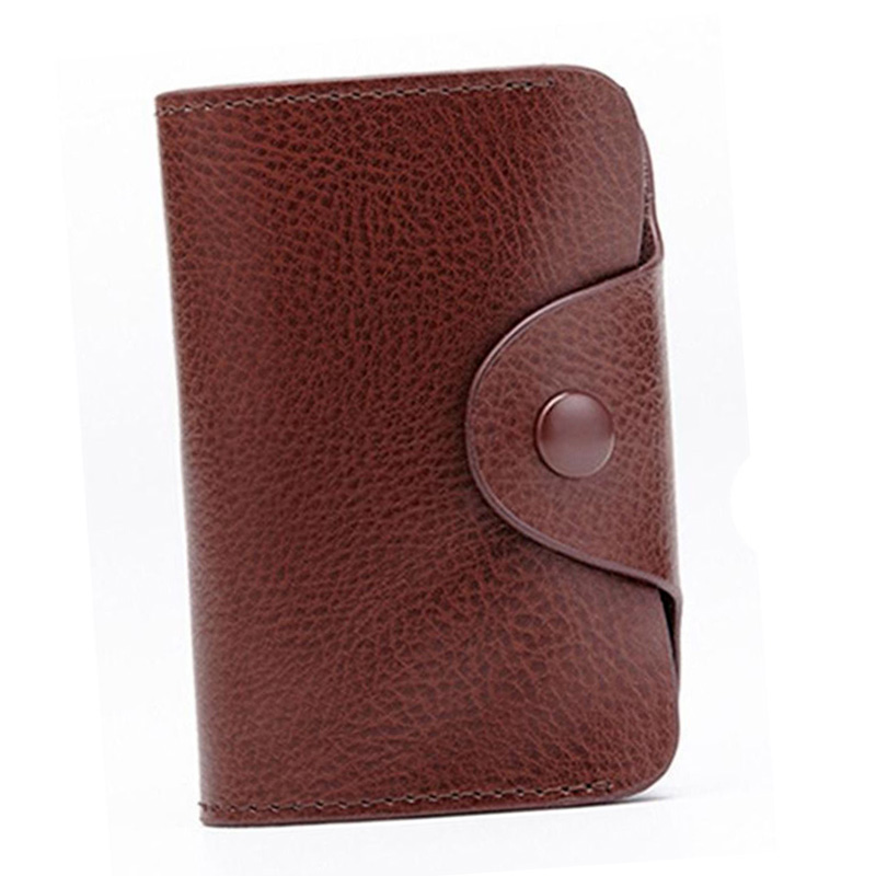 Newly Portable PU Leather Wallet Blocking Pocket Holder Credit Card Case for Men Women