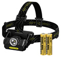 Nitecore HA20 SET Led Headlamp CREE Xp-G2 300 Lumens Full Metal Uniboy Wide-beam Optics AA Portable Head Lamp + 2*AA Batteries