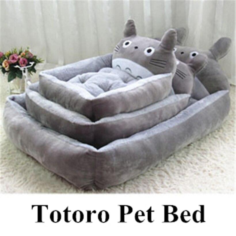 Winter 4 Cartoon Dog Bed Totoro Pet House flannel Cat