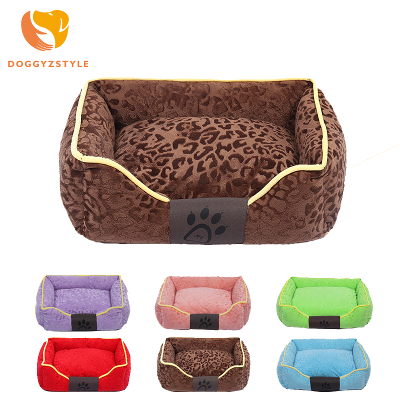 Pet Dog Bed Warming Dog House Soft PP Cotton Pet Nest Candy Colored Dog Fall and Winter Warm Nest Kennel For Cat Puppy 6 Colors