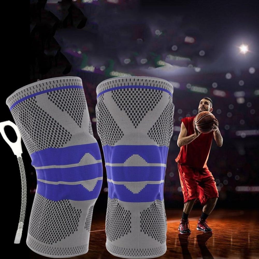 Basketball Unterstützung Elastische Atmungsaktive Gepolsterte Knie Pads Sport Unterstützung Brace Meniskus Patella Schutz Sport Sicherheit Schutz