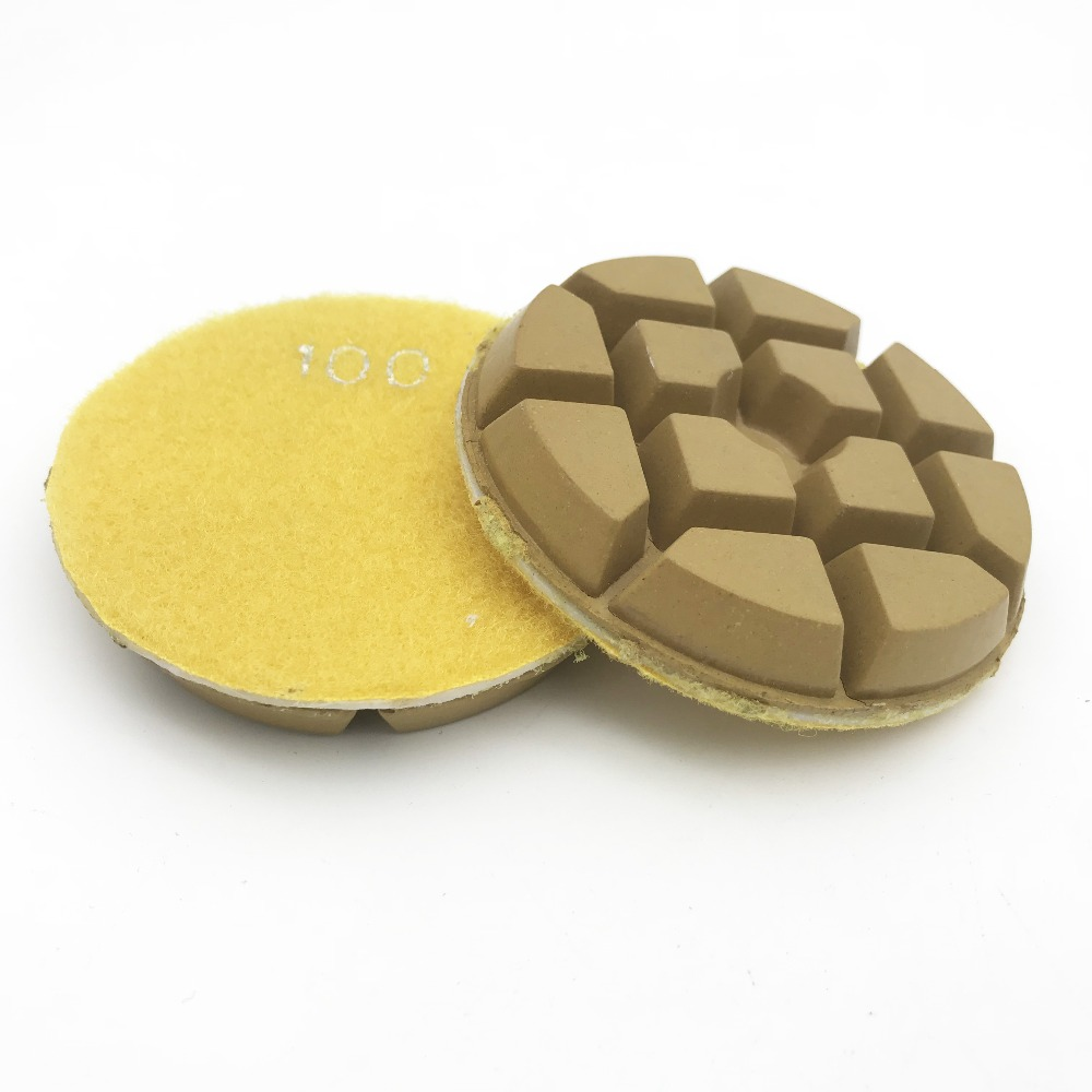 """8 units/lot 3"""" concrete grinding polishing pad dry use  grit at 30 50 150 300 500 1000 2000 3000"""