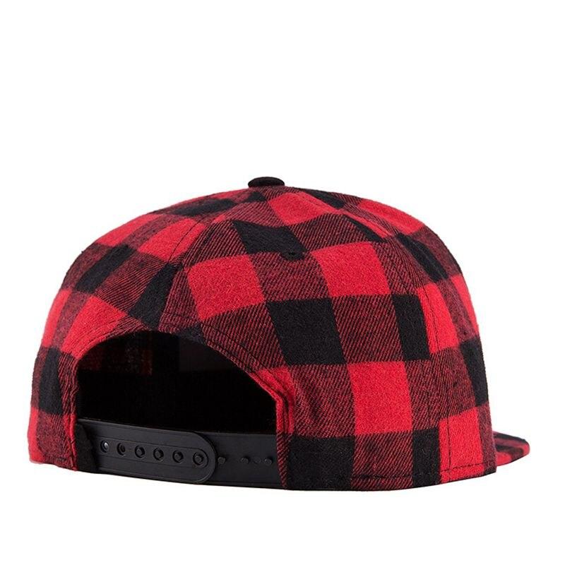 Yienws New Fashion Red Black Plaid Baseball Cap for Women Hip Hop Cap  Summer Sun Hat Casual Cotton Bone Gorras Mujer YIC519-in Baseball Caps from  Apparel ... e0acaae034f
