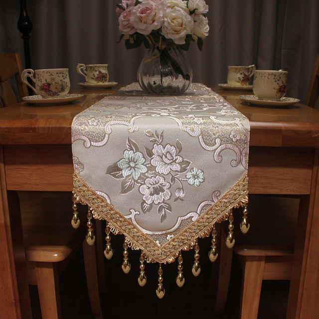Curcya Fancy Luxury Elegant Dining Table Runner For Wedding Formal Dinner Decoration 30x200cm Vintage
