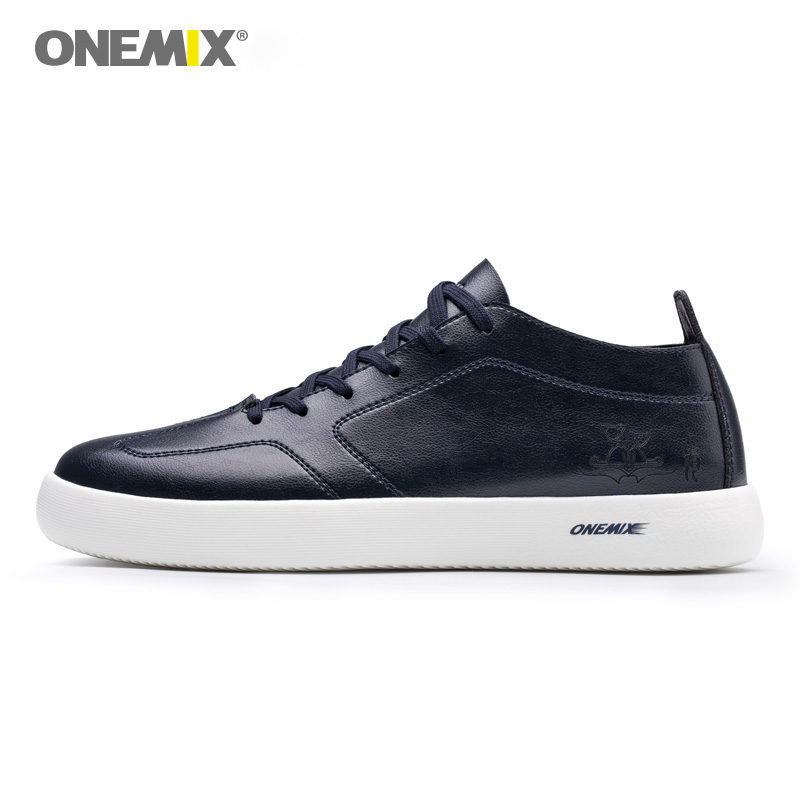 ONEMIX 2018 new man skateboarding shoes light cool skateboard sneakers sport outdoor walking for men size 39-45 black white navy