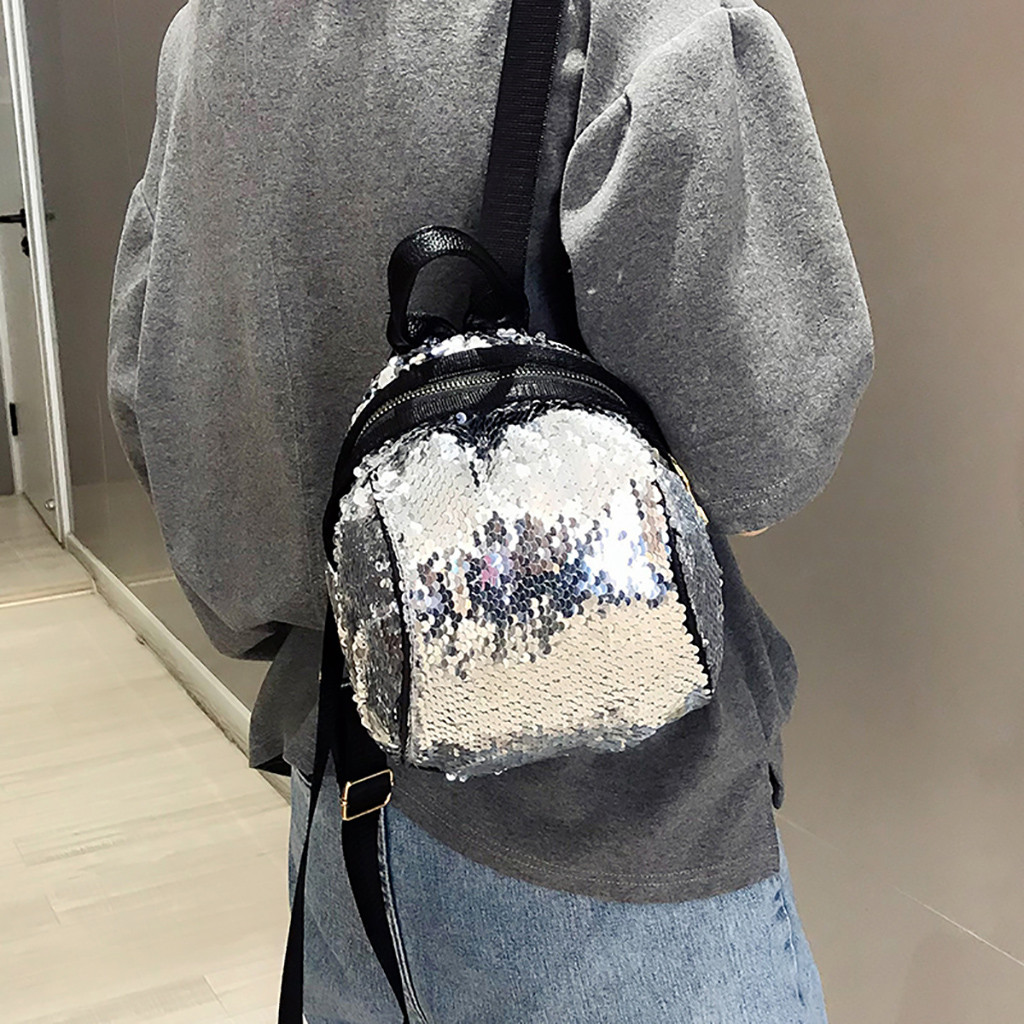 Backpack Fashion Girl Sequins School Backpack Satchel Student Travel Panelled Shoulder Backpack Morrales Para Mujer HWBackpack Fashion Girl Sequins School Backpack Satchel Student Travel Panelled Shoulder Backpack Morrales Para Mujer HW