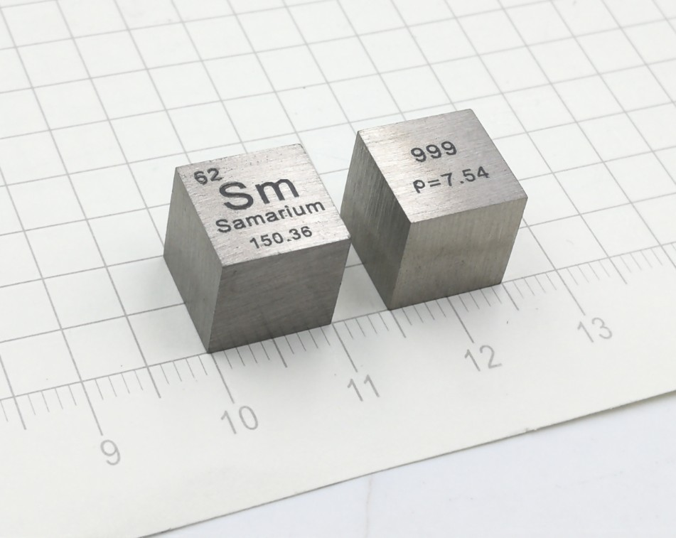 Customized Samarium Rare Earth Metal Periodic Phenotype Cube High Purity Samarium 10mm Samarium Cube Sm (> 99.9%)Customized Samarium Rare Earth Metal Periodic Phenotype Cube High Purity Samarium 10mm Samarium Cube Sm (> 99.9%)