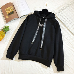 Arfreeker Casual Hoodies Women  Brand Long Sleeve Thick Warm Hooded Black Sweatshirt Hoodie Coat Casual Sportswear Pullovers 2