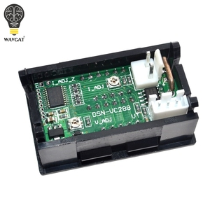 """Image 4 - DC 0 100V 10A Digital Voltmeter Ammeter Dual Display Voltage Detector Current Meter Panel Amp Volt Gauge 0.28"""" Red Blue LED"""