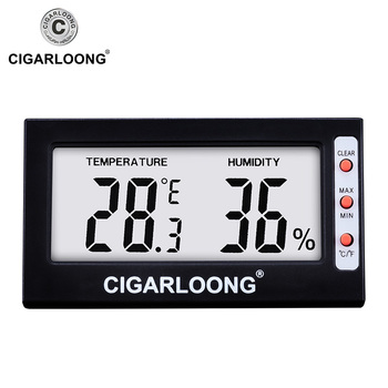 Higrómetro Digital de cigarros para Humidor/gabinete hogar interior Mini medidor de temperatura ambiente CJ-0101