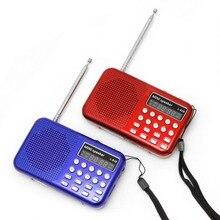 Мини lcd цифровой аудио FM радио USB Micro SD TF карта динамик MP3 музыкальный плеер