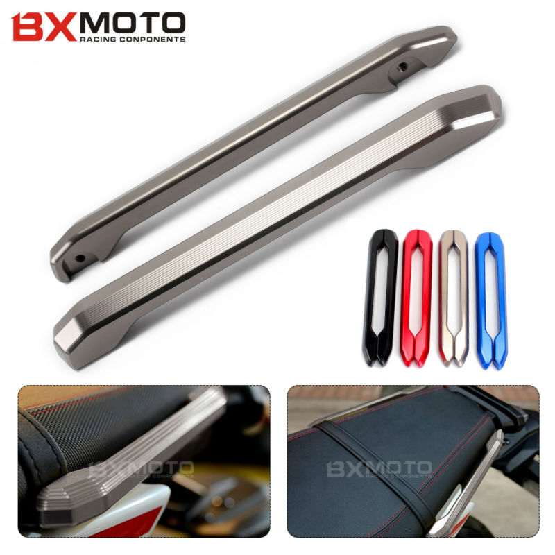 black Motorcycle accessories CNC Aluminum Rear Grab Bars Rear Seat Grab Rail Handle For Yamaha MT09 FZ09 MT-9 FZ-9 2014-2017 лодка надувная yamaha yamaha 9 9