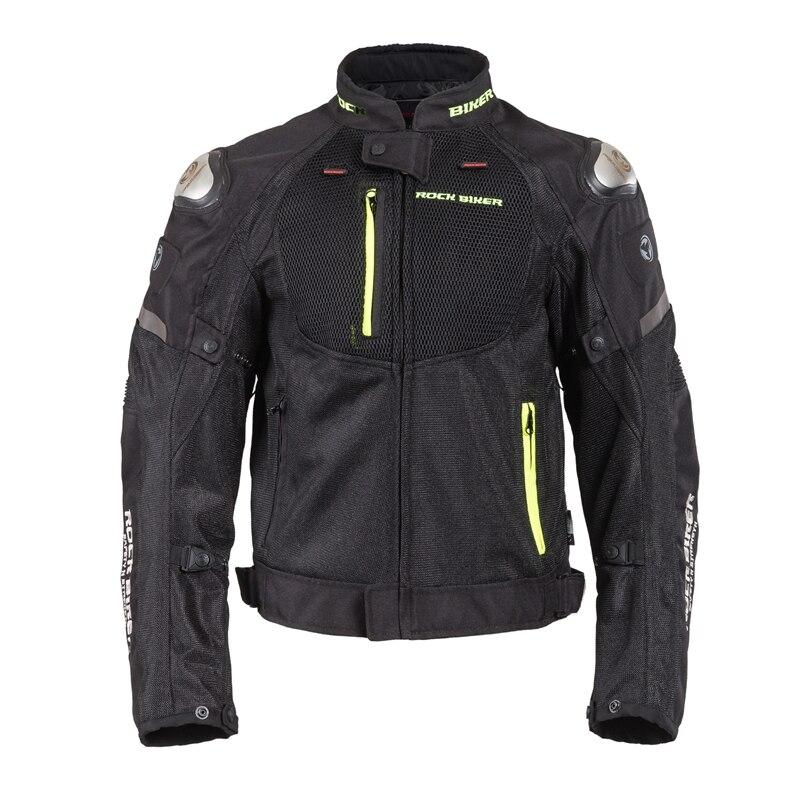 Rock Biker Motorcycle Riding Suit Jacket Four Seasons Drop Waterproof Racing Motorcycle Motorcycle Equipment Men's RJ-716 Black