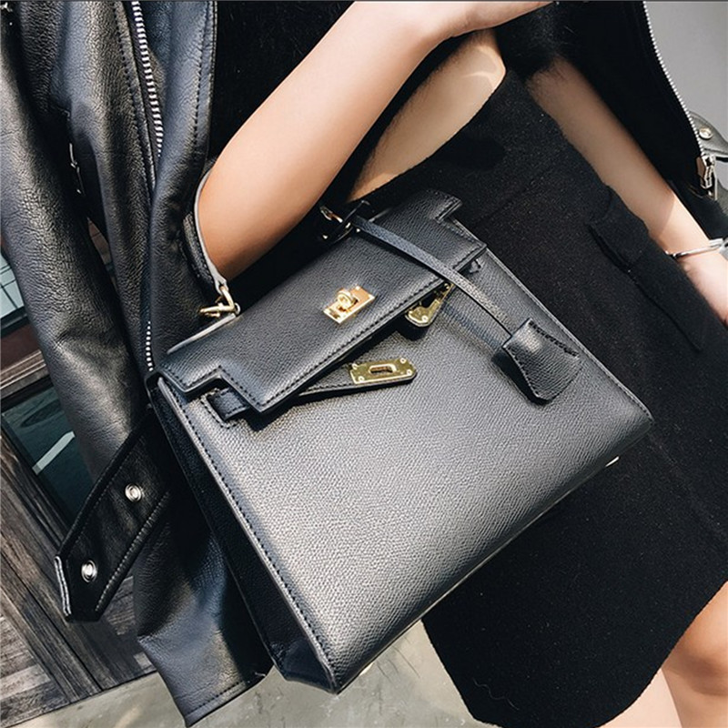 New Famous Brand Luxury Women Tote Handbag Fashion Elegent Ladies Top-handle Bag Hasp High Quality PU Leather Bag Wholesale 2015 new brand female elegent style 100