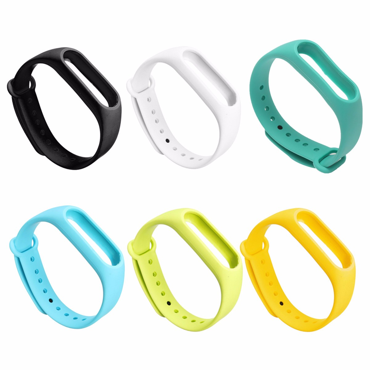 все цены на Hot Silicone Belt Wristband Watchband Wearable Strap Replacement Colorful Bracelet For/Xiaomi/Miband 2 Smart Accessories онлайн