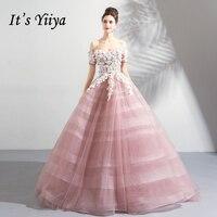 Это yiiya вечернее платье 2018 Лодка шеи элегантные модные цветами из органзы вечерние платья длиной до пола LX1230 вечернее платье