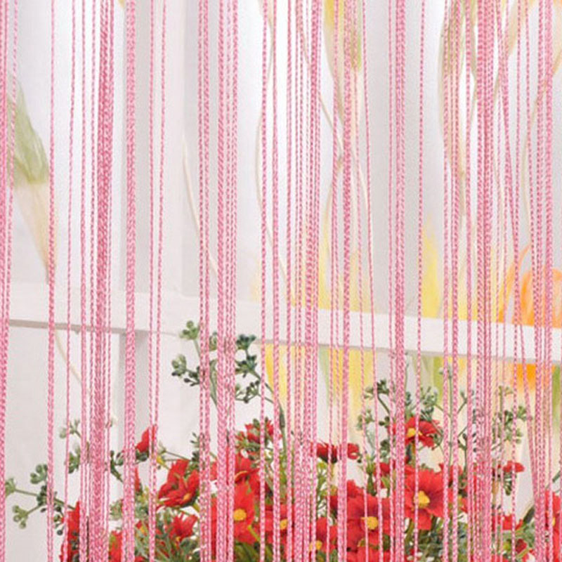 13 Colors Solid 100 200 CM Home Decoration String Curtains For Living Room Decor Bed Window Door Blinds VBJ30 T10 05