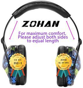 Image 4 - ZOHAN çocuklar kulak koruyucu güvenlik kulak Muffs NRR 22dB gürültü azaltma kulak koruyucular en İyi İşitme koruyucular bebekler çocuklar için erkek