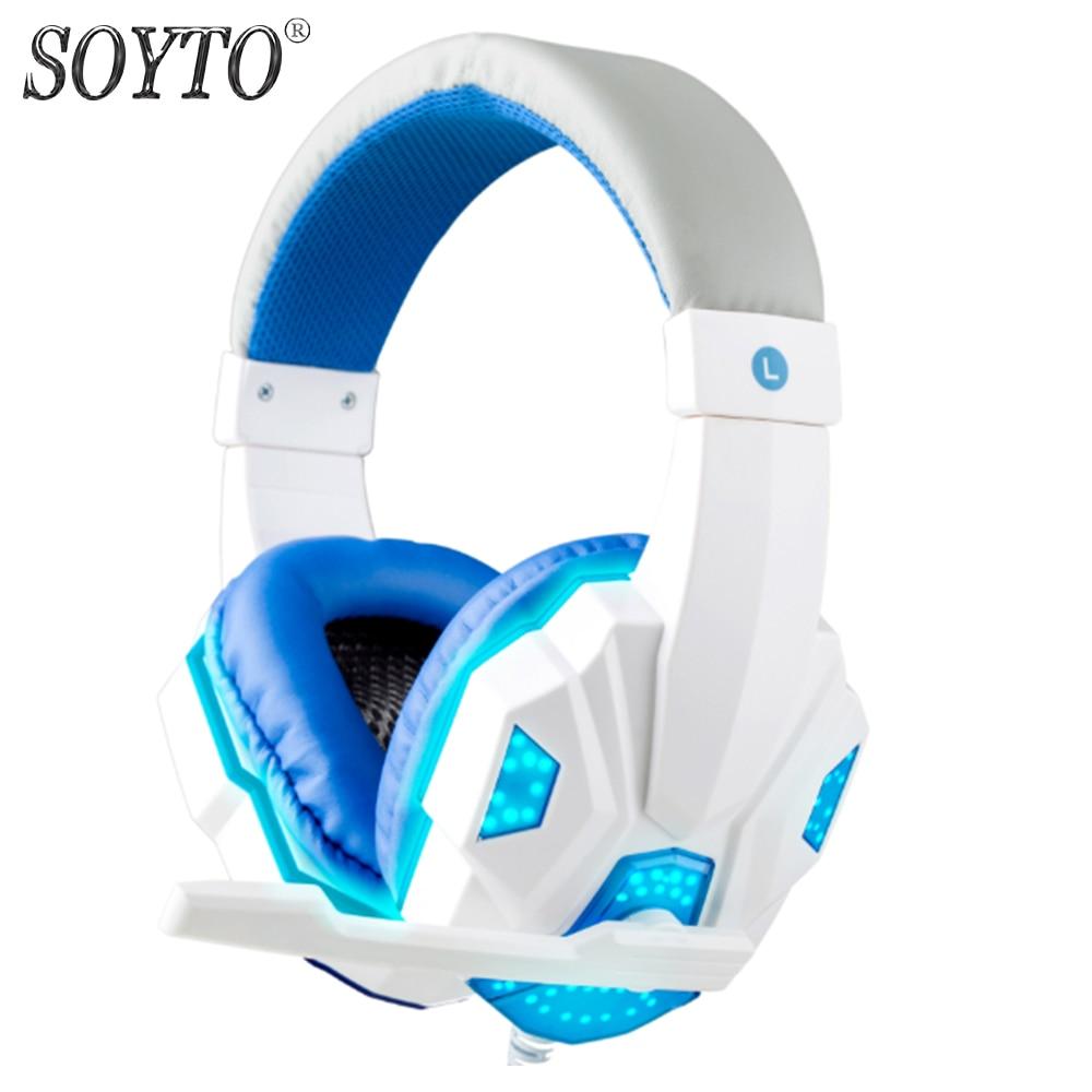 SOYTO SY830MV originaaljuhtmega kõrvaklapid PC LED Stereo bassiga - Kaasaskantav audio ja video - Foto 3