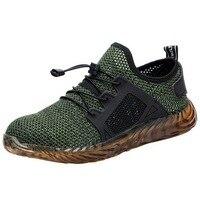 HEFLASHOR livraison directe hommes et femmes en acier orteil Air bottes de sécurité Indestructible Ryder chaussures légères travail baskets chaussures respirantes