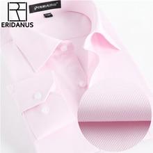 Spring Dress Shirts Mens Formal Non Iron Wedding Shirt Solid Long Sleeve Business Fashion Mens Shirts Social Brand Clothing X021