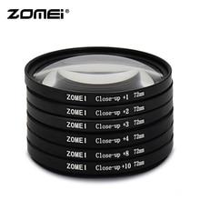 Zomei макрофильтр Клоуз-ап со степенью приближения фильтр для объектива+ 1+ 2+ 3+ 4+ 8+ 10 фильтр объектива 49/52/55/58/62/67/72/77/82 мм для Canon зеркальных фотокамер Nikon Камера